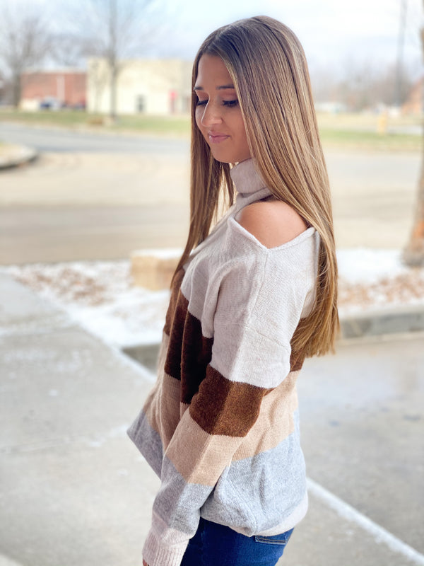 IRRESISTIBLE CUTOUT SHOULDER TOP