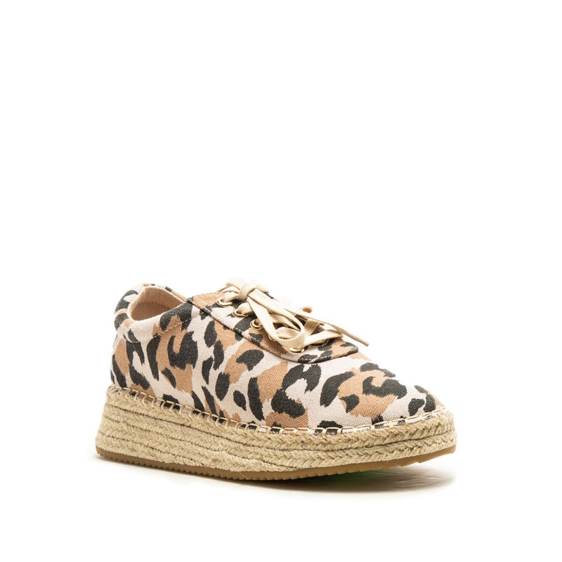 FABIO LACE UP SNEAKER- LEOPARD