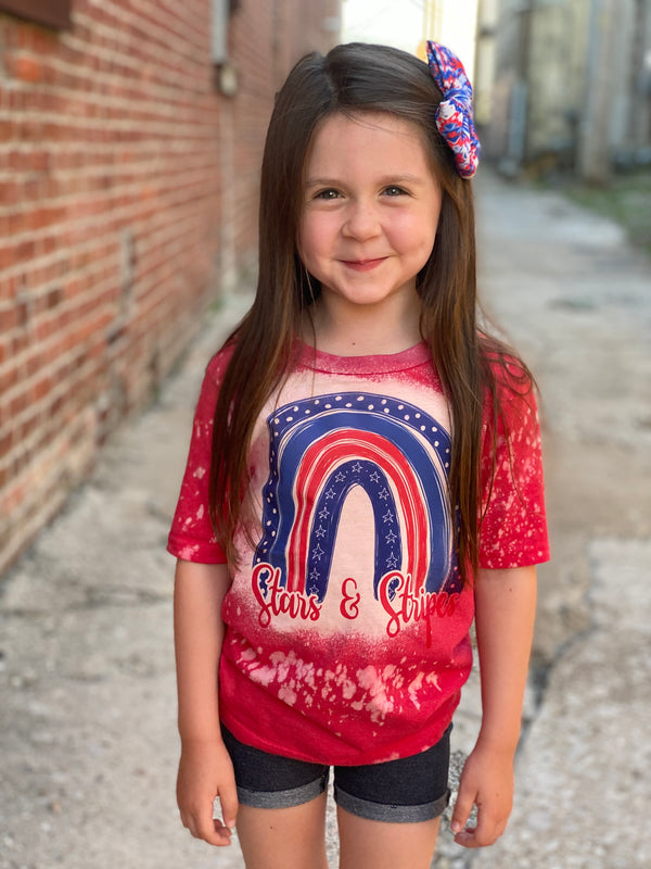 KIDS STARS & STRIPES BLEACH TEE