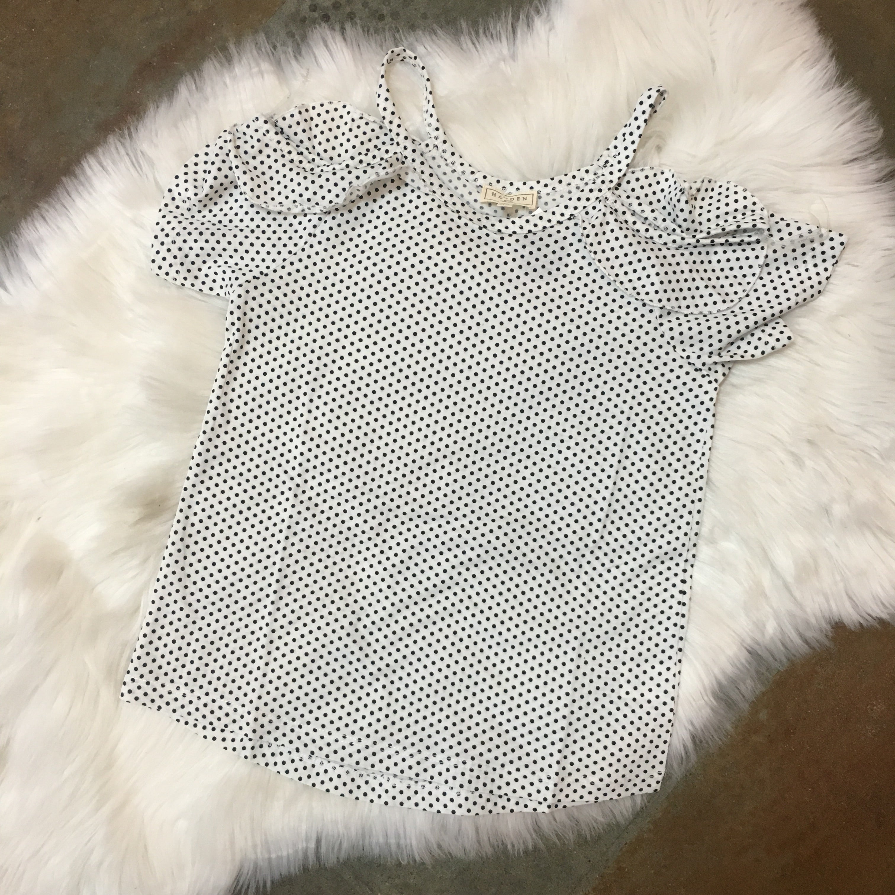 GIRLS POLKA DOT RUFFLED TUNIC
