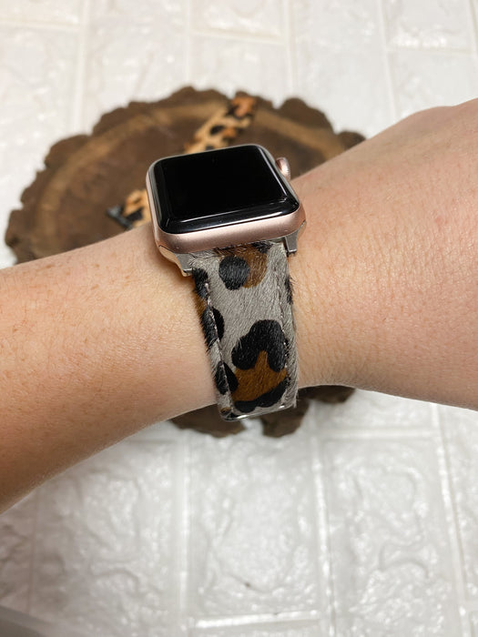 FUR LEOPARD WATCH BAND