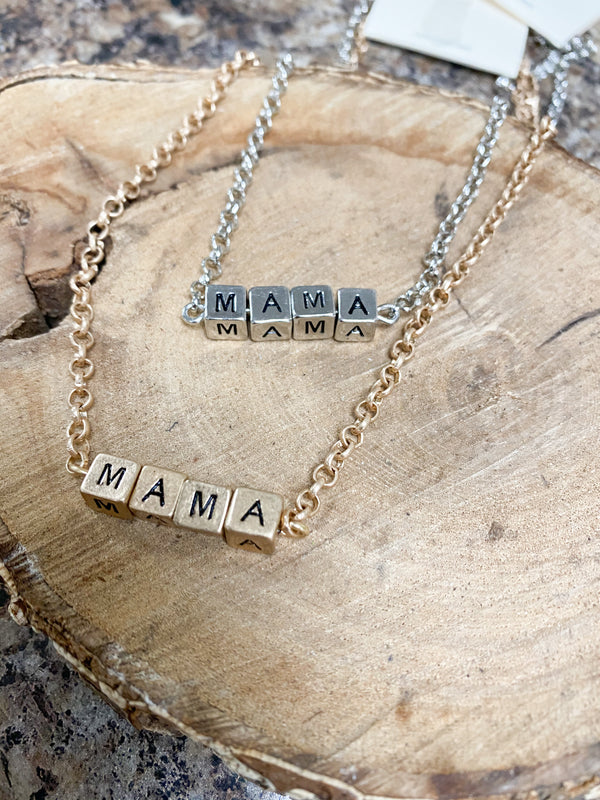 BABY BLOCK MAMA NECKLACE