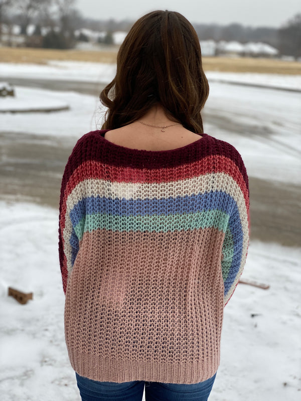 DECEMBER SUNSET SWEATER