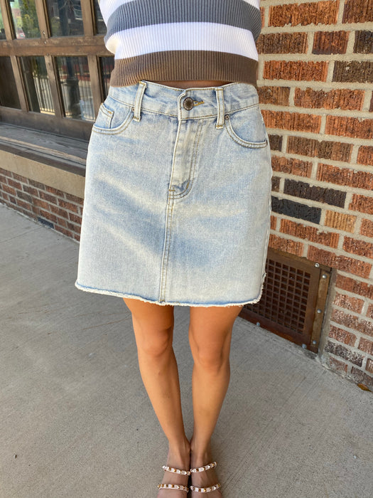 LOVIN' ON YOU DENIM SKIRT