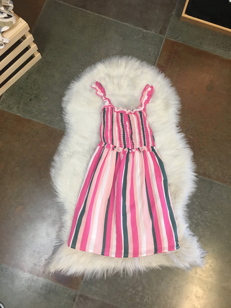 STRIPED SMOCK YOUTH DRESS