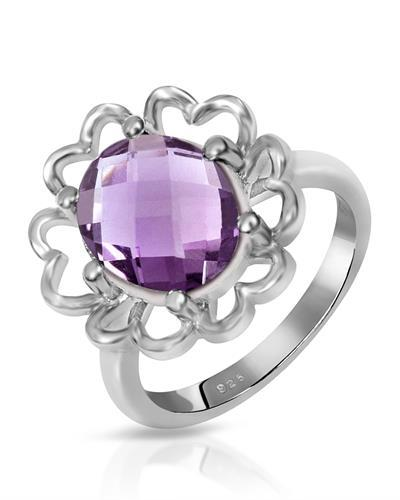 Brand New Ring with 3.05ctw amethyst 925 Silver sterling silver