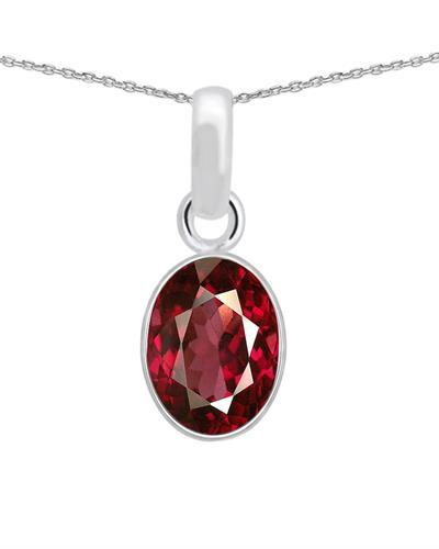 Brand New Necklace with 2.35ctw ruby 925 Silver sterling silver