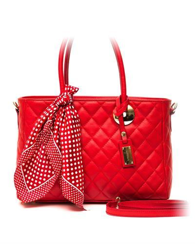 Trussardi D66TRC1003 Rosso Brand New Handbag  Red leather