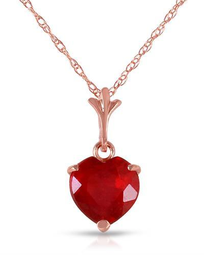 Magnolia Brand New Necklace with 1.45ctw ruby 14K Rose gold