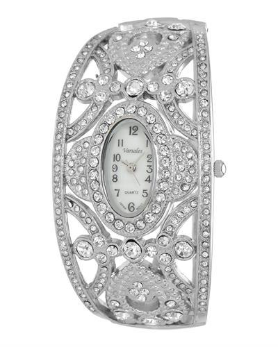 Varsales V4187-3 Brand New Japan Quartz Watch with 0ctw of Precious Stones - crystal and mother of pearl