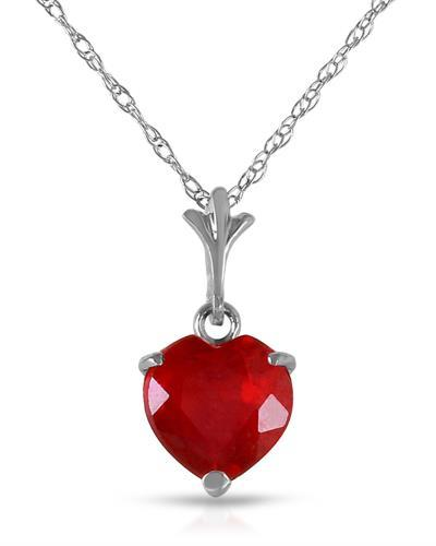 Magnolia Brand New Necklace with 1.45ctw ruby 14K White gold