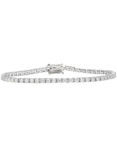 3.25 Carat Natural Diamond 14K Solid White Gold Bracelet