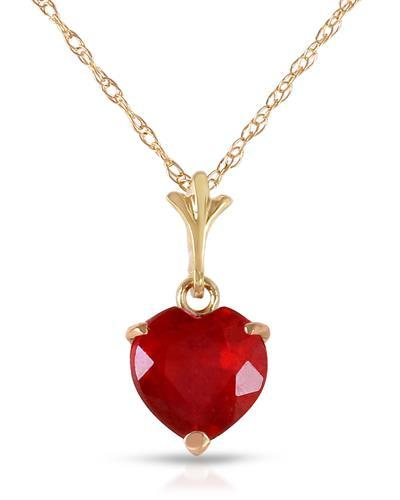 Magnolia Brand New Necklace with 1.45ctw ruby 14K Yellow gold