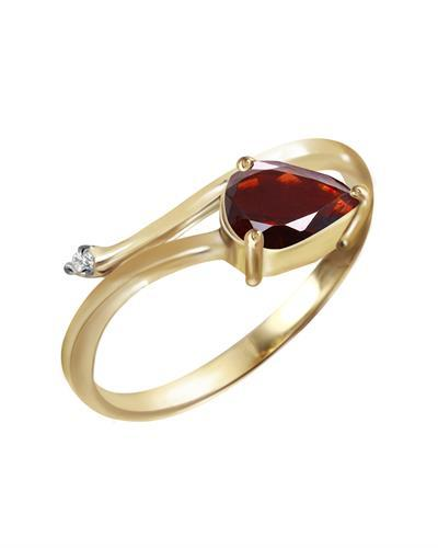 Magnolia Brand New Ring with 0.84ctw of Precious Stones - diamond and garnet 14K Yellow gold