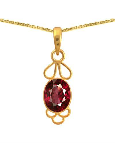Brand New Necklace with 4.2ctw ruby 925 Yellow sterling silver