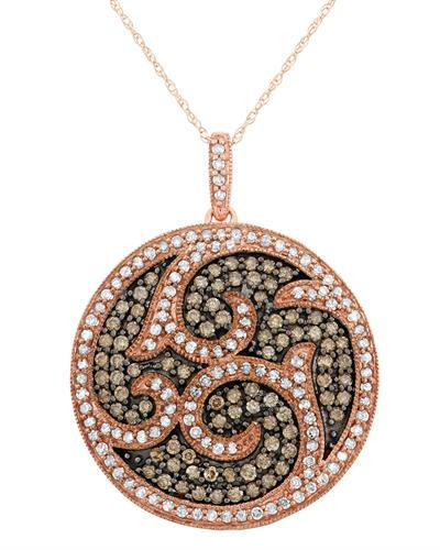 Brand New Necklace with 1.45ctw of Precious Stones - diamond and diamond 10K Rose gold