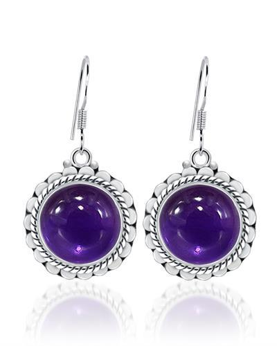 Brand New Earring with 8ctw amethyst 925 Silver sterling silver