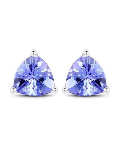 Brand New Earring with 1.36ctw tanzanite 14K White gold