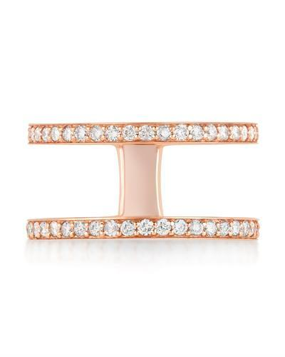 Kono Collection Brand New Ring with 0.6ctw lab-grown diamond 14K Rose gold