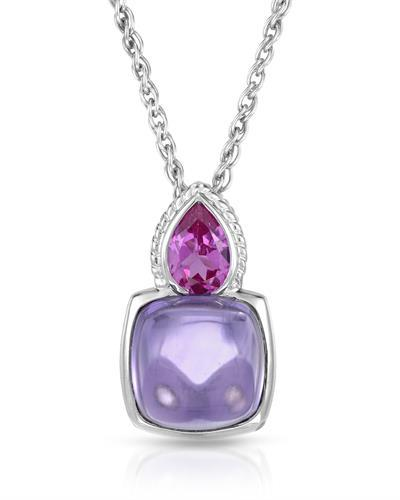 Simon Golub & Sons Brand New Necklace with 5ctw of Precious Stones - amethyst and sapphire 925 Silver sterling silver
