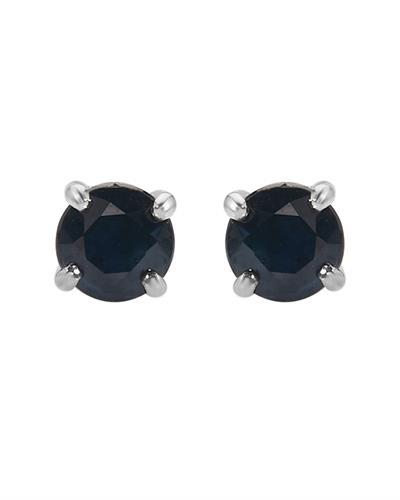 Brand New Earring with 1ctw sapphire 10K White gold