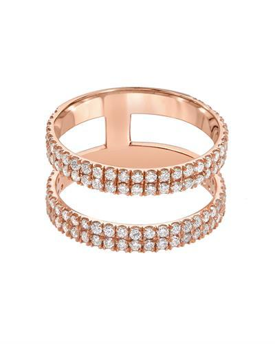 Kono Collection Brand New Ring with 1.2ctw lab-grown diamond 14K Rose gold