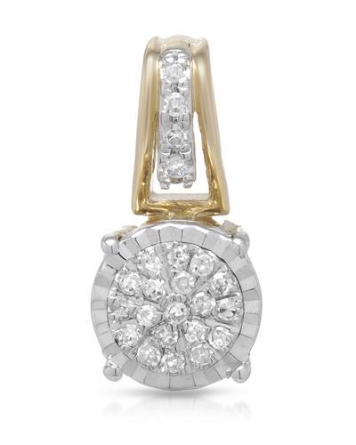Whitehall Brand New Pendant with 0.09ctw diamond 14K Two tone gold