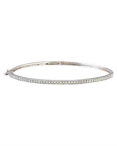 0.25 Carat Natural Diamond 14K Solid White Gold Bracelet