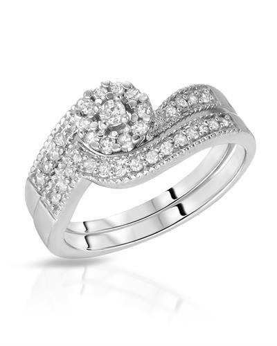 Brand New Ring with 0.33ctw diamond 10K White gold