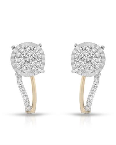 Whitehall Brand New Earring with 0.18ctw diamond 14K Two tone gold
