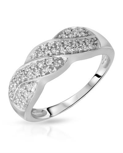 Brand New Ring with 0.24ctw diamond 10K White gold