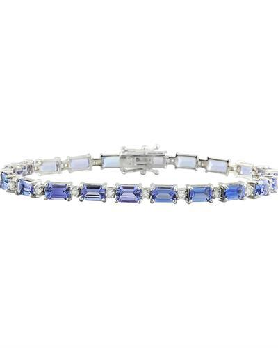 11.55 Carat Tanzanite 18K White Gold Diamond Bracelet