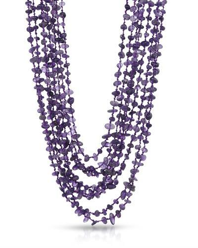Brand New Necklace with 595ctw amethyst