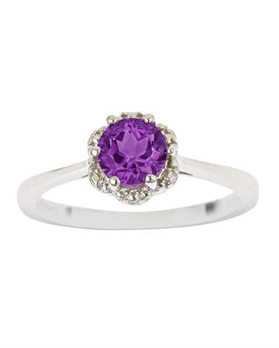 Brand New Ring with 0.7ctw amethyst 925 Silver sterling silver