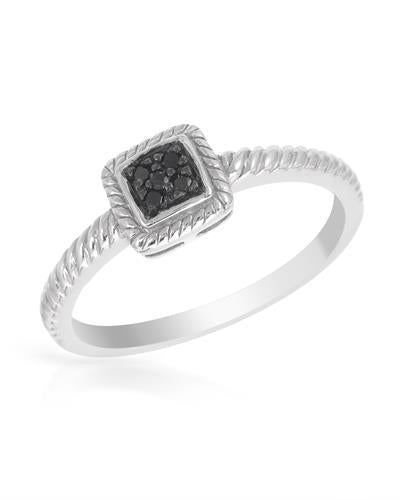 Brand New Ring with 0.05ctw diamond 925 Silver sterling silver