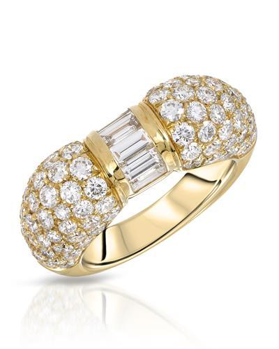 Julius Rappoport Brand New Ring with 3.36ctw diamond 18K Yellow gold