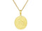 SeChic Brand New Leo Oval Pendant in 14K Gold Plated Silver