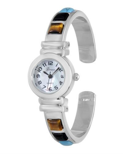 Varsales V4984-3 Brand New Japan Quartz Watch with 0ctw simulated gems