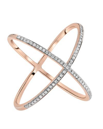 Kono Collection Brand New Ring with 0.77ctw lab-grown diamond 14K Rose gold