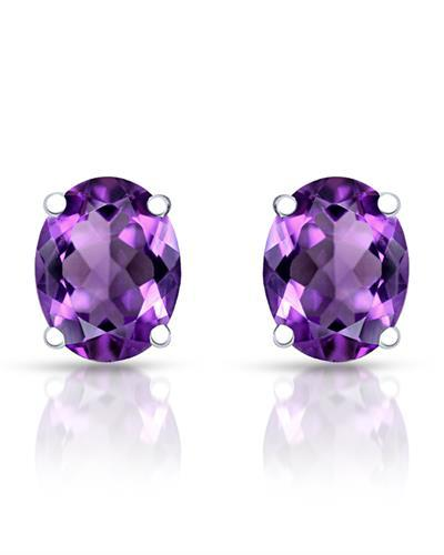 Brand New Earring with 2.2ctw amethyst 925 Silver sterling silver