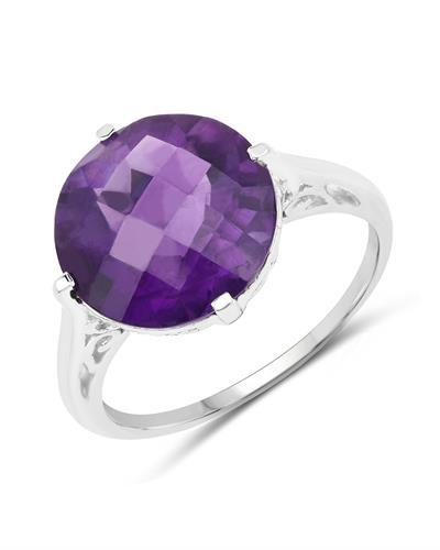 Brand New Ring with 5.6ctw amethyst 925 Silver sterling silver
