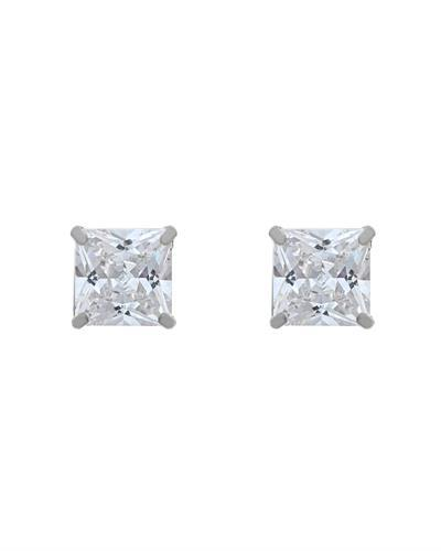 Brand New Earring with 0ctw cubic zirconia 14K White gold