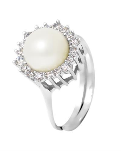 Ateliers Saint Germain Brand New Ring with 0ctw of Precious Stones - pearl and zircon 925 Silver sterling silver