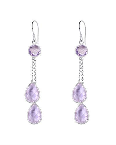 Brand New Earring with 23.8ctw amethyst 925 Silver sterling silver