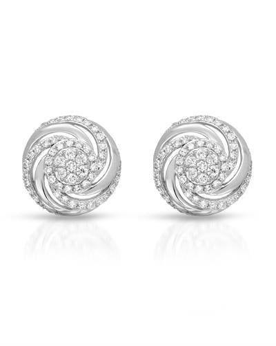 Whitehall Brand New Earring with 0.33ctw diamond 14K White gold