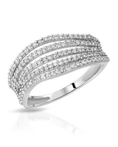 Brand New Ring with 0.51ctw diamond 10K White gold