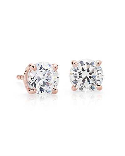 Burgi Stud Earrings with 4.045 ctw diamond 14K White gold