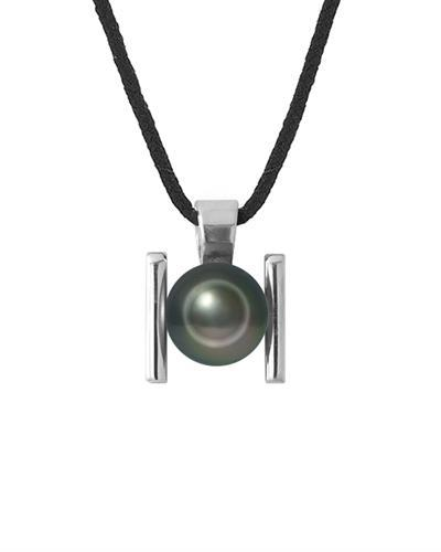 Ateliers Saint Germain Brand New Necklace with 0ctw pearl  Black Nylon and 925 Silver sterling silver