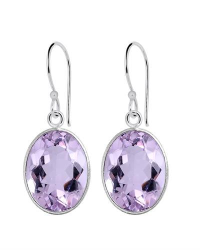 Brand New Earring with 15.8ctw amethyst 925 Silver sterling silver