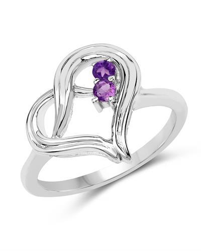 Brand New Ring with 0.12ctw amethyst 925 Silver sterling silver